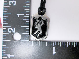 tennis player pendant with measurement