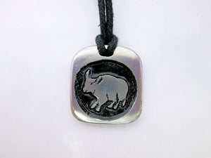 Ox Chinese zodiac pendant necklace