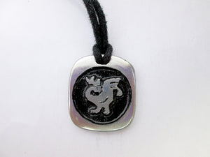 rooster zodiac pendant necklace