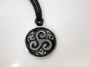 Celtic triskele pendant necklace