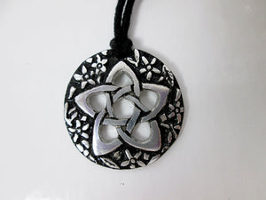 Celtic Knot large flower pentagram of goddess pendant necklace