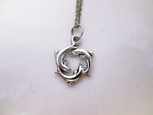 happy forever circle of luck dolphin necklace