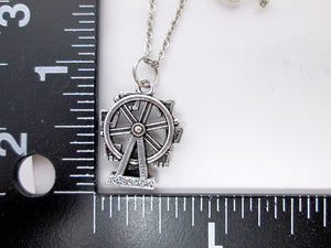 ferries wheel necklace with measurement