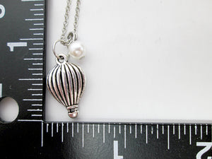 hot air balloon necklace with measurement