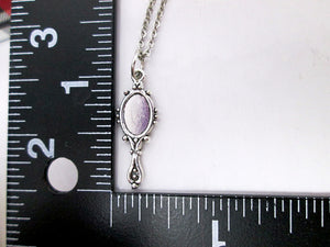 mirror necklace with measurement