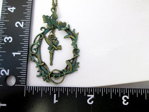 Tinkerbell fairy necklace with measurement
