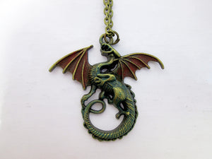 fantasy dragon necklace