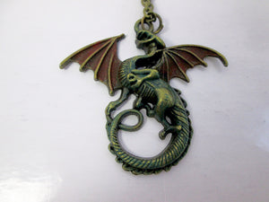 fire dragon necklace