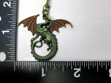Load image into Gallery viewer, dragon necklace with measurement
