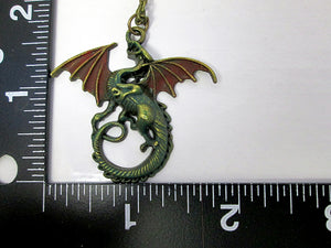 dragon necklace with measurement
