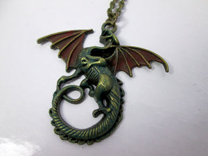 cosplay dragon necklace
