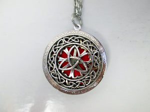 interchangeable color trinity locket