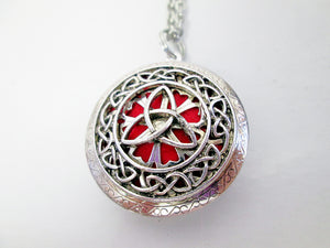 Celtic trinity knots locket necklace