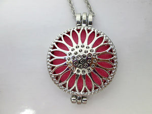 sunflower diffuser locket necklace