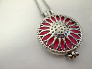 sunflower perfume necklace