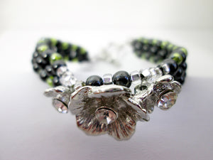 black and green magnetic bracelet
