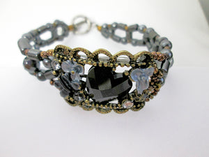 black and bronze magnetic bracelet