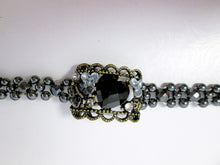Load image into Gallery viewer, Fancy Magnetic Bracelet Antique Bronze and Black Magnetic Hematite Bracelet