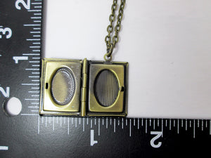 inside view of small book locket