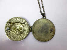 Load image into Gallery viewer, inside view of owl locket