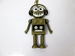 music robot necklace