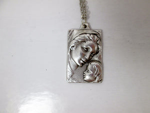 mother of god and baby pendant necklace