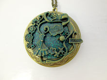 Load image into Gallery viewer, Fairytale in the wonderland locket pendant necklace