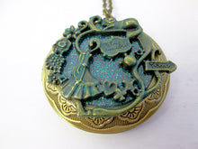 Load image into Gallery viewer, fairytale alice locket necklace
