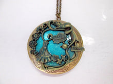 Load image into Gallery viewer, glow in the dark alice locket necklace