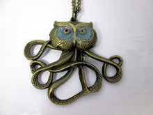Load image into Gallery viewer, Owlctopus pendant necklace