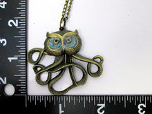 Load image into Gallery viewer, owlctopus necklace with measurement