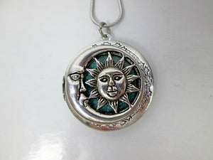 moon and sun locket pendant