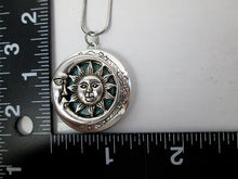Load image into Gallery viewer, moon and sun locket with measurement