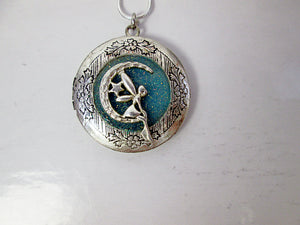 moon fairy locket necklace