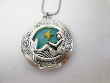 Load image into Gallery viewer, mermaid locket necklace