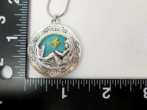 mermaid locket with measurement