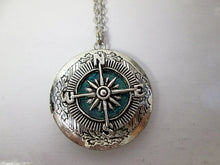 Load image into Gallery viewer, compass locket necklace