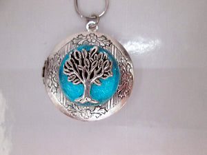 glow tree locket necklace