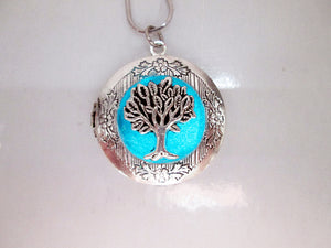 glow in the dark tree locket necklace