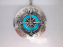 Load image into Gallery viewer, glow in the dark compass necklace