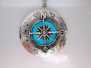 glow in the dark compass necklace