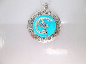 glowing moon fairy locket pendant necklace