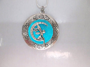 glow in the dark moon fairy locket necklace