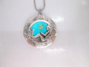 glow mermaid locket