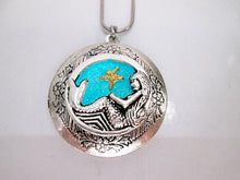 Load image into Gallery viewer, glow in the dark mermaid locket necklace