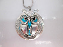 Load image into Gallery viewer, Glow owl locket neckalce