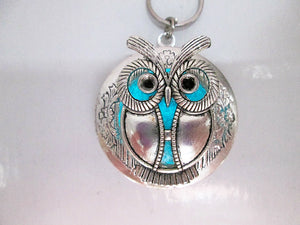 glow in the dark fat owl locket