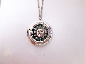 moon and sun locket necklace
