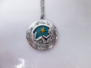 mermaid locket necklace