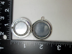 inside view of locket with measurement